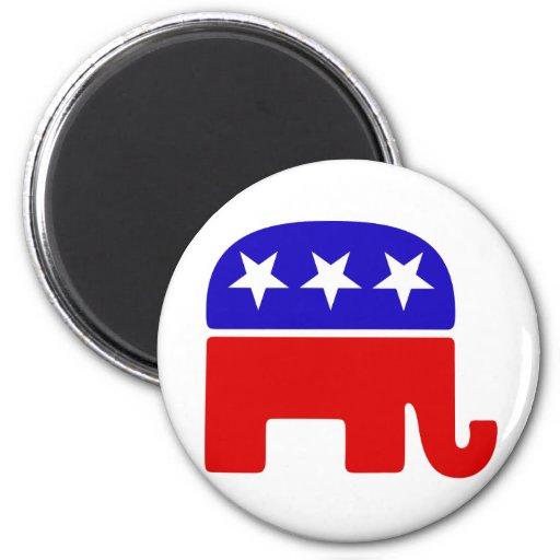 Republican Logo 2 Inch Round Magnet
