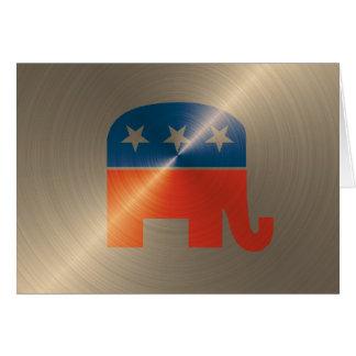 Republican Logo In Gold Cards