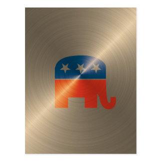 Republican Logo In Gold Post Card