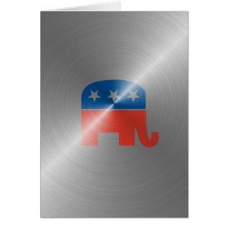 Republican Logo In Steel Cards