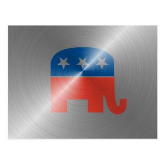 Republican Logo In Steel Postcard