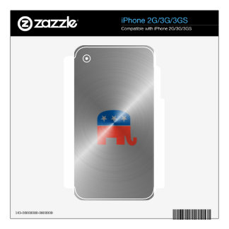 Republican Logo In Steel iPhone 3G Decal