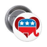 Republican Love Pinback Buttons