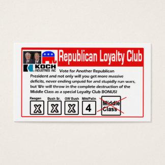 Republican Loyalty Club Card