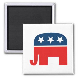 Republican Mascot 2 Inch Square Magnet