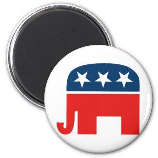 Republican Mascot 2 Inch Round Magnet