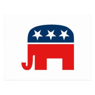 Republican Mascot Postcard