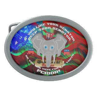 Republican memorabilia You wont find anywhere else Oval Belt Buckle