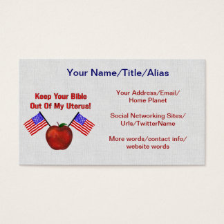 REPUBLICAN MOLESTORS BUSINESS CARD