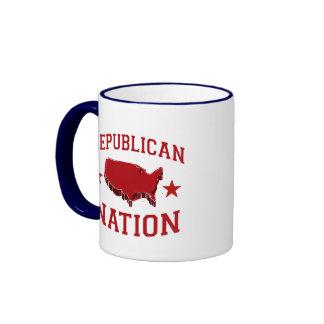 REPUBLICAN NATION RINGER COFFEE MUG