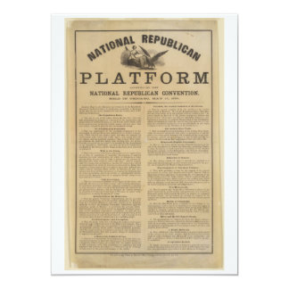Republican National Convention Platform 1860 5x7 Paper Invitation Card