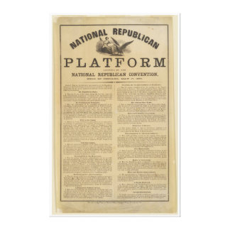 Republican National Convention Platform 1860 Canvas Print