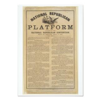 Republican National Convention Platform 1860 Card