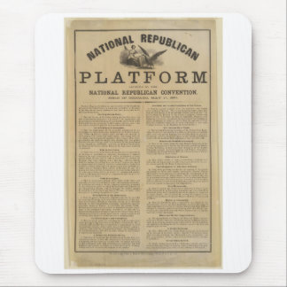 Republican National Convention Platform 1860 Mouse Pad