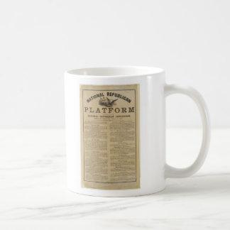 Republican National Convention Platform 1860 Classic White Coffee Mug