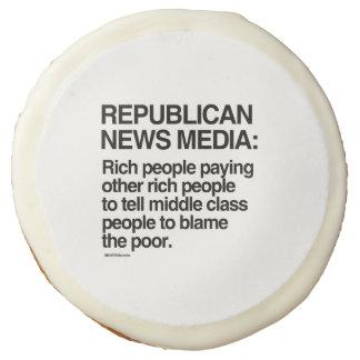 Republican News Media Sugar Cookie