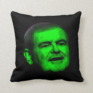 Republican Newt GREEN  Throw Pillow