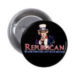 Republican, Not On Welfare 2 Inch Round Button