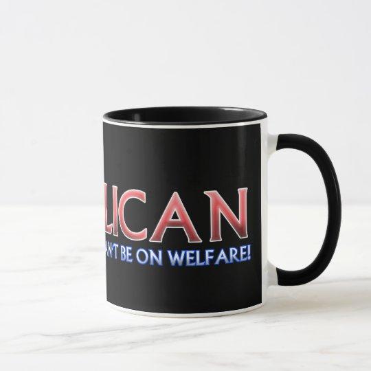 Republican, Not On Welfare Mug