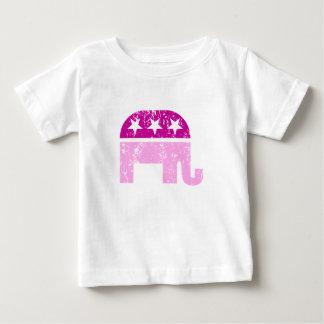 Republican Original Elephant Distressed Pink Baby T-Shirt