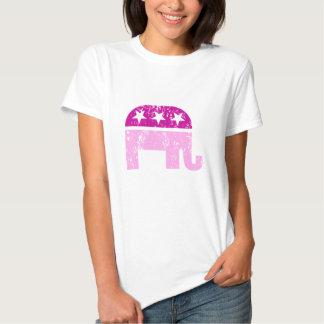 Republican Original Elephant Distressed Pink Shirt