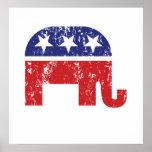 Republican Original Elephant Distressed Posters