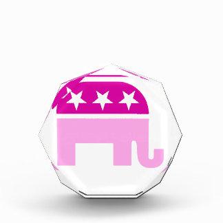 Republican Original Elephant Pink Acrylic Award