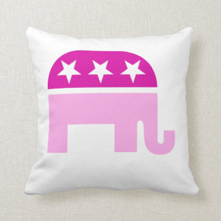 Republican Original Elephant Pink Throw Pillow