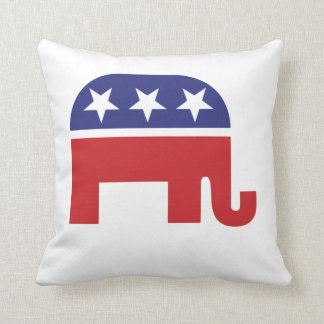 Republican Original Elephant Throw Pillow