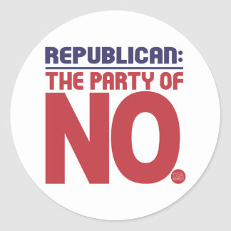 Republican: Part of NO! Classic Round Sticker