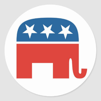 Republican Party 2012 Classic Round Sticker