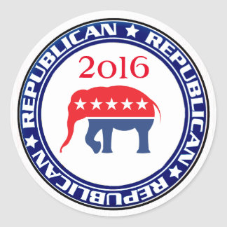 Republican Party 2016 Round Stickers