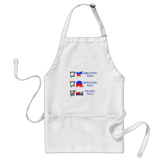 Republican Party, Democratic Party, Slumber Party Adult Apron