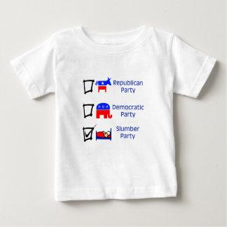 Republican Party, Democratic Party, Slumber Party Baby T-Shirt