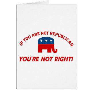Republican party designs card