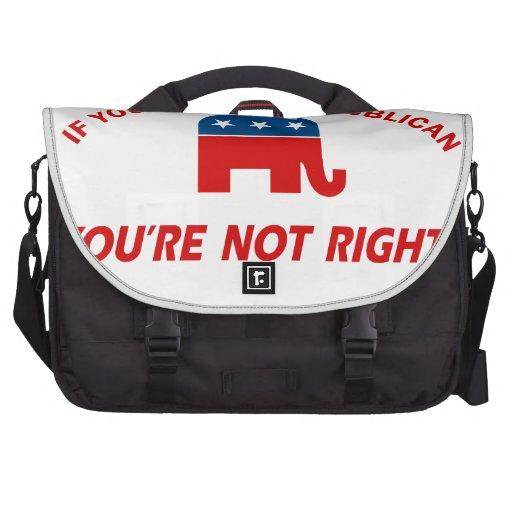 Republican party designs laptop messenger bag