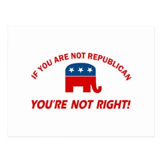 Republican party designs postcard