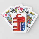 Republican Party Elephant Bicycle Playing Cards