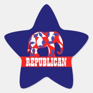 Republican party elephant mascot CUSTOMIZE Star Sticker