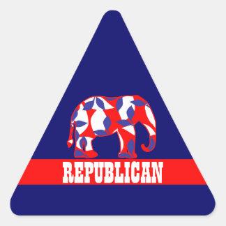 Republican party elephant mascot CUSTOMIZE Triangle Sticker