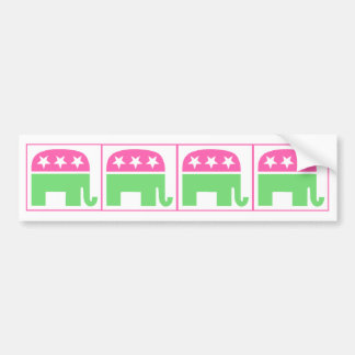 republican party elephant with border bumper sticker
