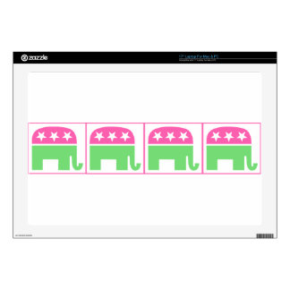 republican party elephant with border skin for laptop