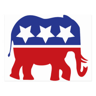 Republican party logo - Updated! Postcard