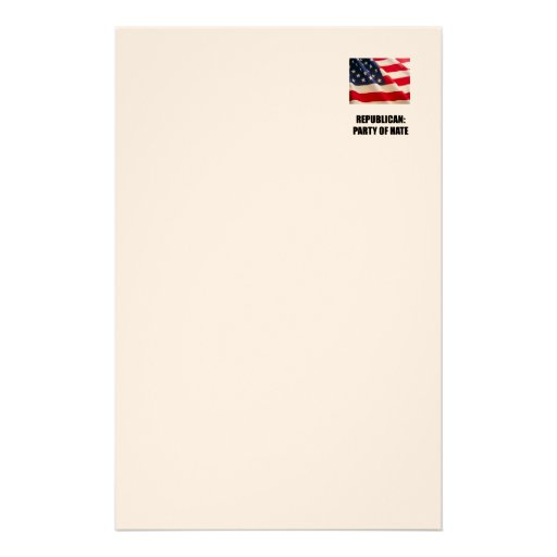 Republican - Party of Hate Stationery