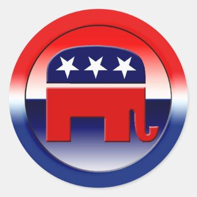 Republican Party Symbol Classic Round Sticker Zazzle