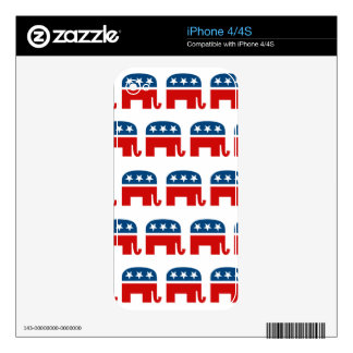 REPUBLICAN PATTERN.png Skin For The iPhone 4S