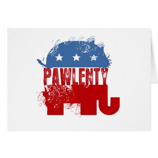 REPUBLICAN PAWLENTY CARD