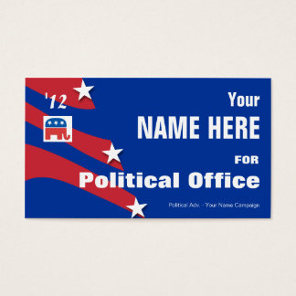 Republican - Political Election Campaign Business Card