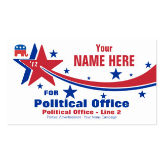Republican Political Election Campaign Double-Sided Standard Business Cards (Pack Of 100)