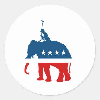 Republican Polo Classic Round Sticker